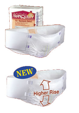 Bariatric Hi-Rise Disposable Brief Extra Large Plus *32 count per case