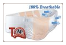 Bariatric AIR-Plus Breathable Extra Large Plus Disposable Brief *32 Count Per Case